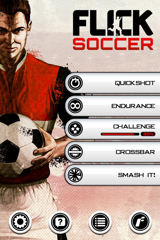 Test flicksoccer ecran accueil [Test] de Flicksoccer   Un mini jeu de football pour se divertir sur son iPhone (0,79€)