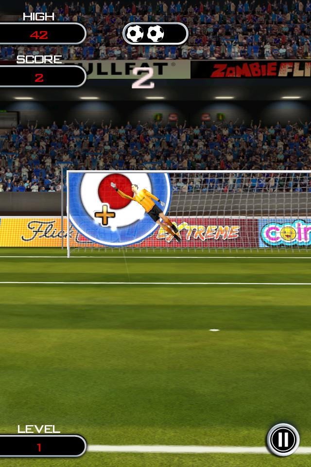 Test flicksoccer endurance [Test] de Flicksoccer   Un mini jeu de football pour se divertir sur son iPhone (0,79€)