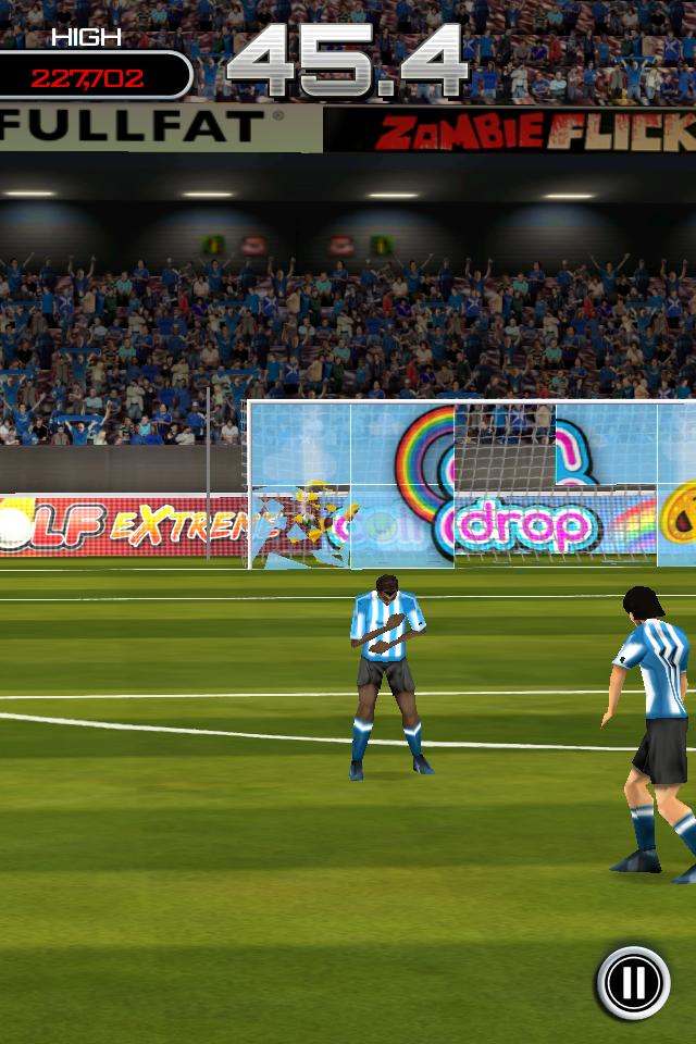 Test flicksoccer smash it2 [Test] de Flicksoccer   Un mini jeu de football pour se divertir sur son iPhone (0,79€)