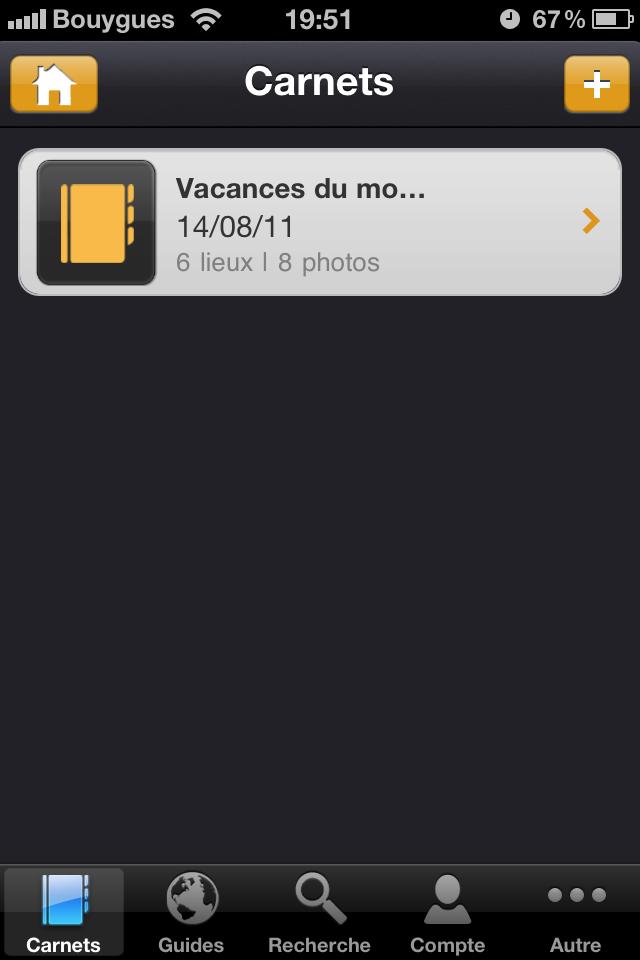 Test mobilytrip accueil carnet [Test] de Mobilytrip   le carnet de voyage indispensable pour votre iPhone (gratuit)
