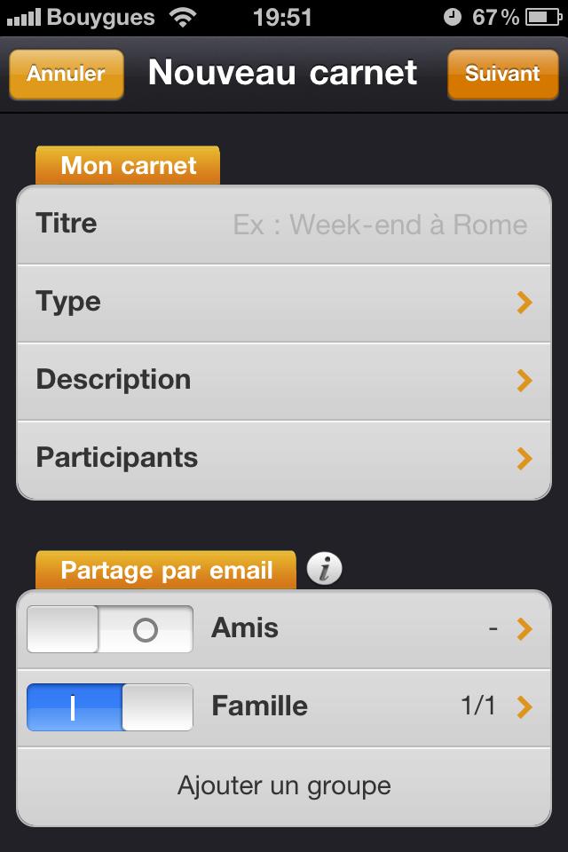 Test mobilytrip creation carnet [Test] de Mobilytrip   le carnet de voyage indispensable pour votre iPhone (gratuit)