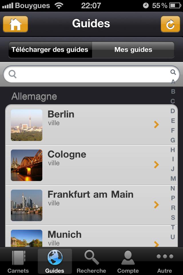 Test mobilytrip guides [Test] de Mobilytrip   le carnet de voyage indispensable pour votre iPhone (gratuit)