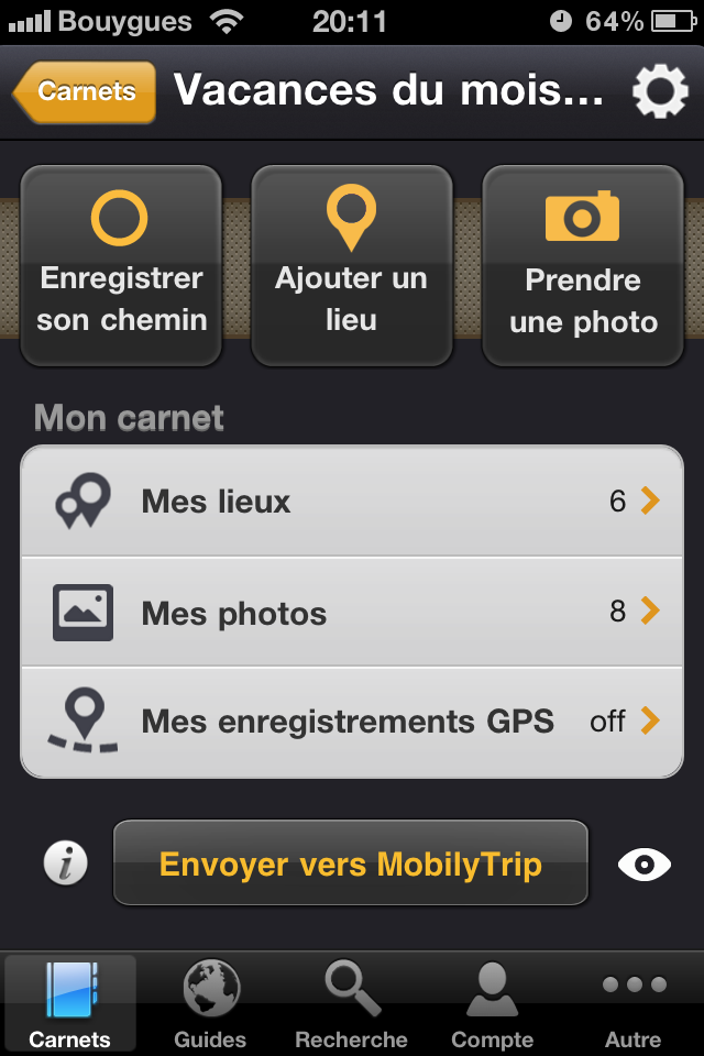 Test mobilytrip vrai carnet [Test] de Mobilytrip   le carnet de voyage indispensable pour votre iPhone (gratuit)