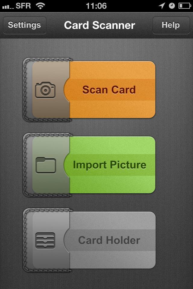 TestCarScanPro001 Test de Card Scanner Pro   Reconnaissance et importation de cartes de visite sur iPhone (5,49€)