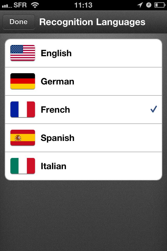 TestCarScanPro017 Test de Card Scanner Pro   Reconnaissance et importation de cartes de visite sur iPhone (5,49€)