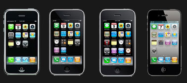 evolution iphone Lévolution de liPhone de 2007 à 2011 dans une infographie