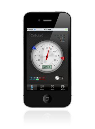 iCelcius live iCelcius : Quand liPhone devient thermomètre !
