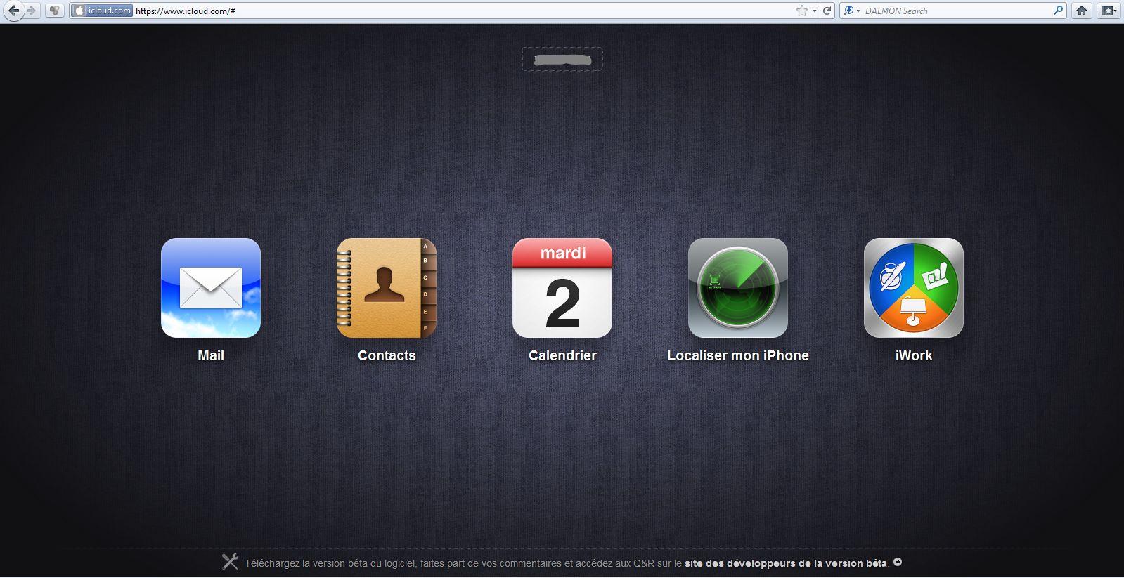 iCloud1 iCloud.com disponible en version bêta   Les tarifs du Stockage dévoilés