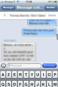iMessage2 iOS 5 bêta 6 : interface message modifiée en images