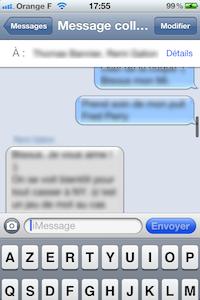 iMessage2 iOS 5 bêta 6 : interface message modifiée en images