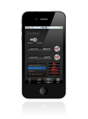 icelsius alarm preview iCelcius : Quand liPhone devient thermomètre !
