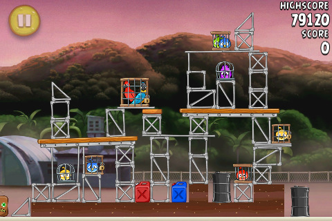 image 1 angry birds Angry Birds Rio passe en version 1.3 avec 15 nouveaux niveaux