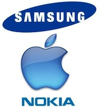 samsung apple nokia LiPhone 4 utilisé par Samsung et Nokia !