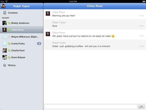 skype for ipad text la version iPad de Skype est enfin disponible sur lApp Store (Gratuit)