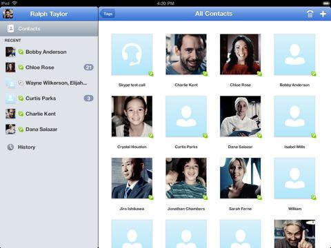 skype for ipad la version iPad de Skype est enfin disponible sur lApp Store (Gratuit)