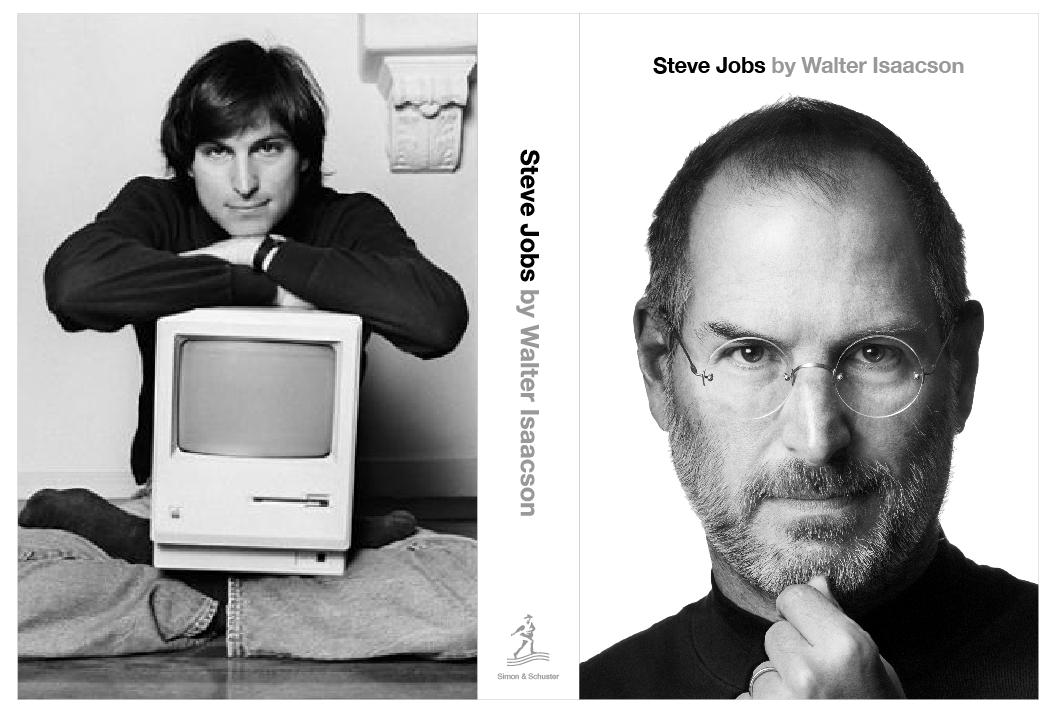 steve jobs authorized biography front and back cover La biographie du plus célèbre PDG dApple bientôt disponible