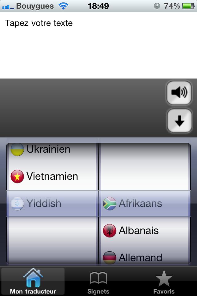 test mon traducteur pro ecran accueil Test de mon traducteur pro   Parlez 52 langues simplement