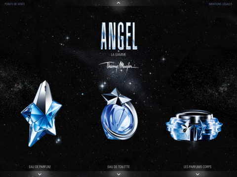 Angel thiery mugler Angel Dream Machine   une application gratuite avec Eva Mendes