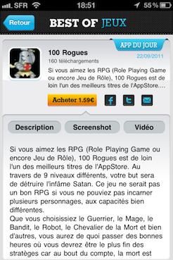 Best of jeux 1 Best of Jeux   Une application pour découvrir des jeux à succès sur lApp Store