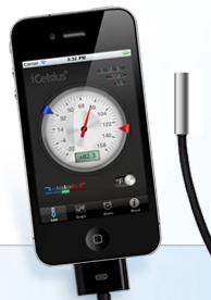 Capture d'écran 2011 09 14 à 20.06.40 [Test] iCelsius   Une sonde thermomètre ultra précise pour iDevice