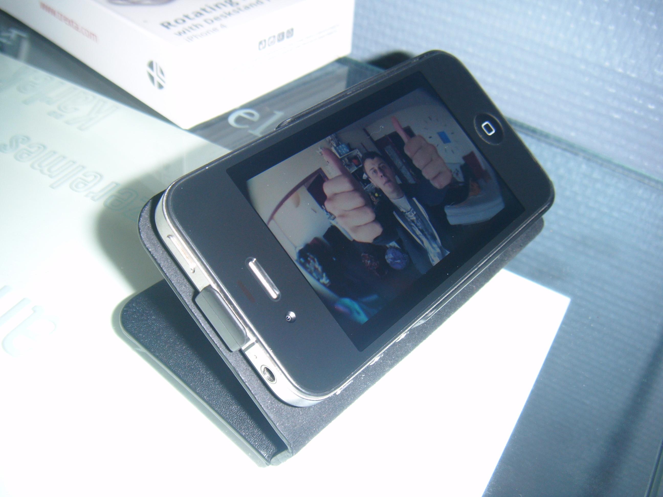 DSCF0253 [Test] Létui personnalisé Trexta Rotating Folio pour iPhone 4 (39.90€)