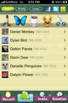 Emoji contact Les bons plans de lApp Store de ce mardi 27 septembre 2011