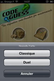 Test CodeGuess 23 [Test] Code Guess, redécouvrez le Mastermind (0,79€)