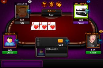 Test Texas Holdem Pro %C3%A9cran Jouer e1316629383406 Test de Texas Holdem Pro   Un jeu de Poker de qualité mais beaucoup trop cher (11,99€/temporairement gratuite)