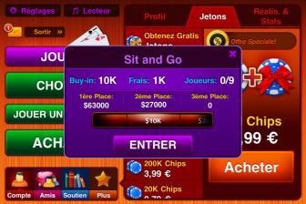 Test Texas Holdem Pro tournoi e1316705133126 Test de Texas Holdem Pro   Un jeu de Poker de qualité mais beaucoup trop cher (11,99€/temporairement gratuite)