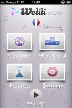 Test Welili 01 [Test] Découvrez le Top 100 musique avec Welili (1,59€)