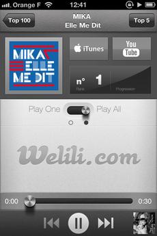 Test Welili 03 [Test] Découvrez le Top 100 musique avec Welili (1,59€)