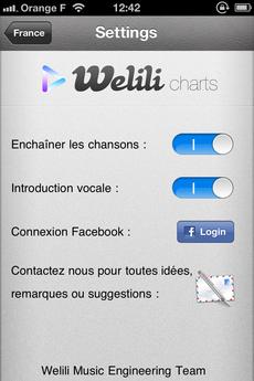 Test Welili 06 [Test] Découvrez le Top 100 musique avec Welili (1,59€)
