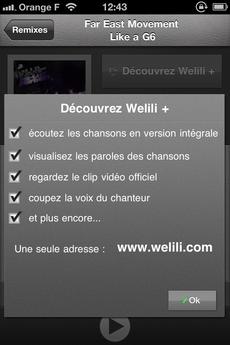 Test Welili 07 [Test] Découvrez le Top 100 musique avec Welili (1,59€)