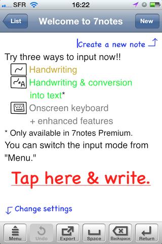 Test7notes002 Test de 7notes et 7Notes Premium   Prendre des notes imagées sur iPhone et iPad