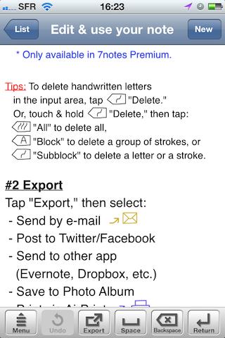 Test7notes003 Test de 7notes et 7Notes Premium   Prendre des notes imagées sur iPhone et iPad