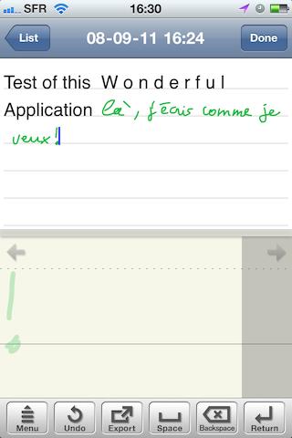 Test7notes016 Test de 7notes et 7Notes Premium   Prendre des notes imagées sur iPhone et iPad