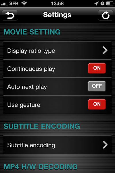 TestAnyPlayer015 Test de AnyPlayer   un autre lecteur multimédia pour iPhone