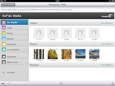 TestGoFlexSatellite012 Test du GoFlex Satellite   Un disque dur wifi pour iPhone et iPad