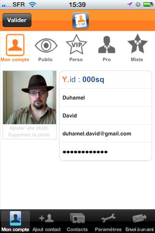 YourIdentity, mon profil public