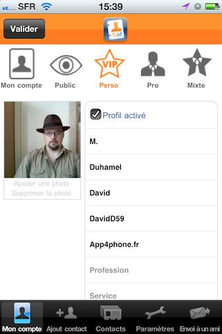 YourIdentity, mon profil perso