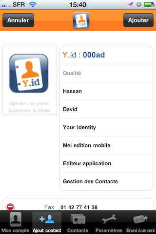 TestYourIdentity007 Test YourIdentity   Une solution intelligente qui synchronise contacts et cartes de visites