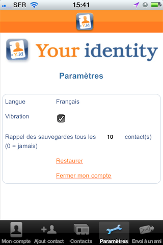TestYourIdentity010 Test YourIdentity   Une solution intelligente qui synchronise contacts et cartes de visites