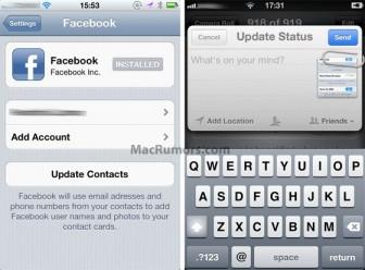 facebook et ios5 e1317137330439 Facebook intégré lui aussi dans la version finale diOS5?