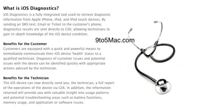 ios diagnostic1 Apple : Un service de diagnostic en ligne pour les appareils iOS en préparation