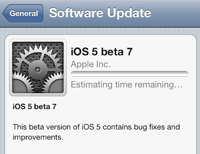 ios5 beta 7 iOS5 Beta 7 est de sortie !