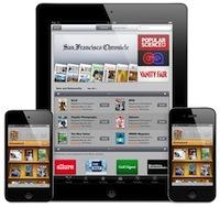 kiosque apple adobe1 iOS (iPad, iPhone, iPod) : 61% du traffic internet mobile