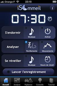 Accueil1 iSommeil, lapplication pour bien dormir et faire de beaux rêves