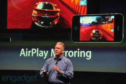 Airplay mirroring1 Apple présente liPhone 4S   Un iPhone 4 amélioré... mais qui ne vaut pas un iPhone 5 !