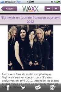 Article Waxx music (gratuit), un mag musical : des news, chroniques et interviews