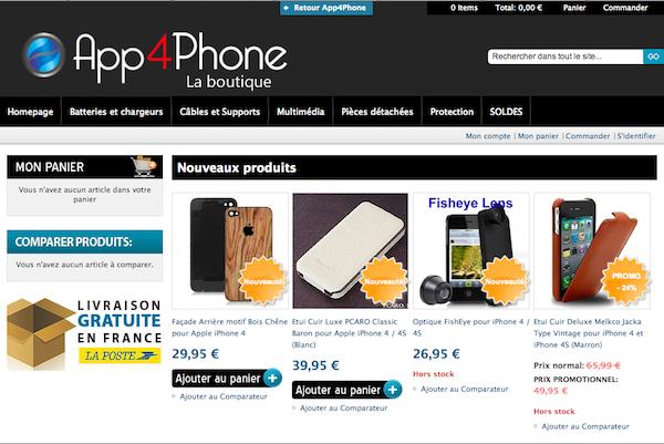 Boutique app4shop 3 Et la surprise se nomme.... App4Shop   Notre propre boutique en ligne daccessoires iPhone !